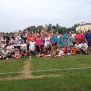 Groupe organisateurs et joueurs tournoi de foot Casseneuil 2014