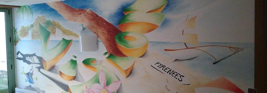Decoration murale service ophtalmologie 5