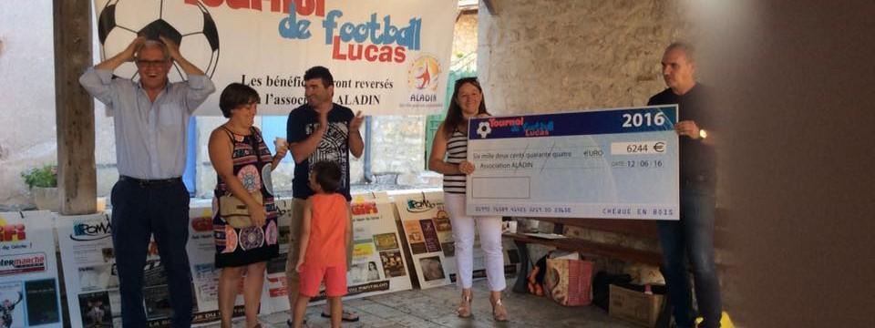 Remise cheque Tournoi Lucas 2016-2