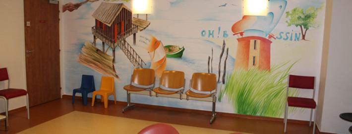 Mur après décoration
